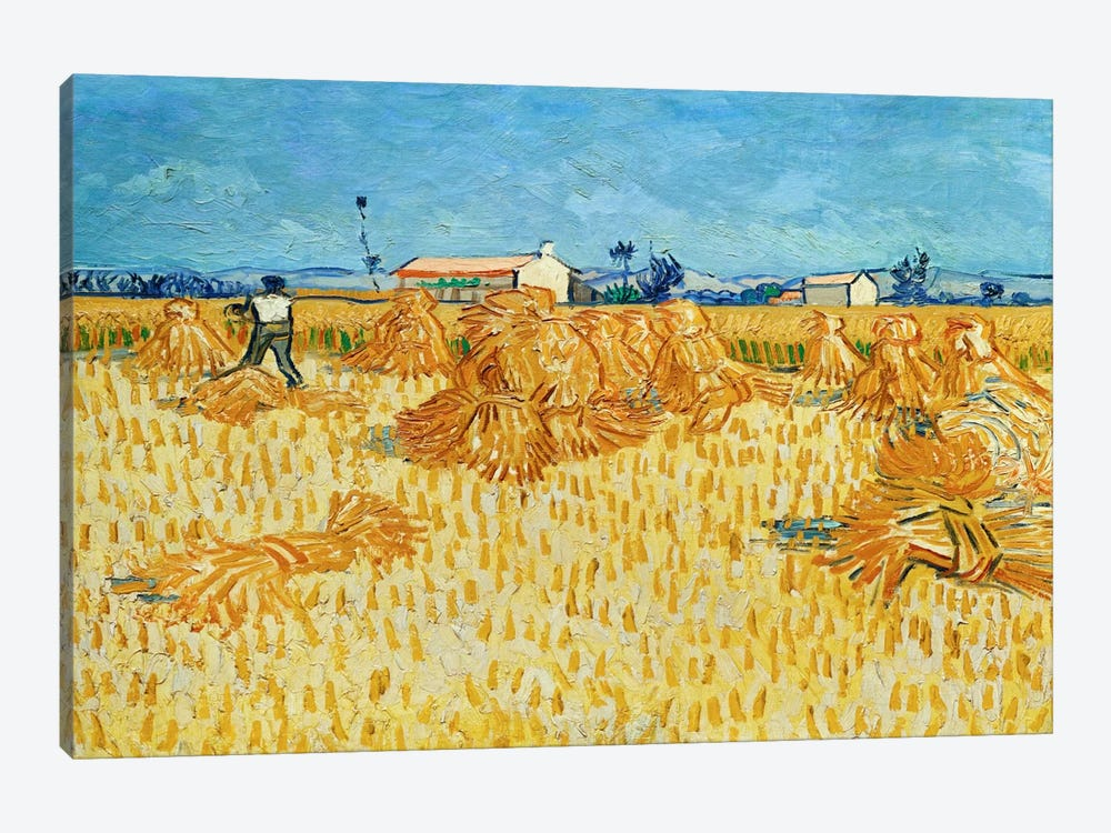 Harvest in Provence by Vincent van Gogh 1-piece Canvas Print