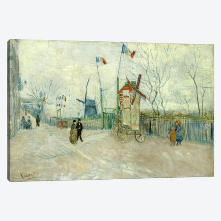 Impasse des Deux Freres Canvas Print #14353} by Vincent van Gogh Canvas Print