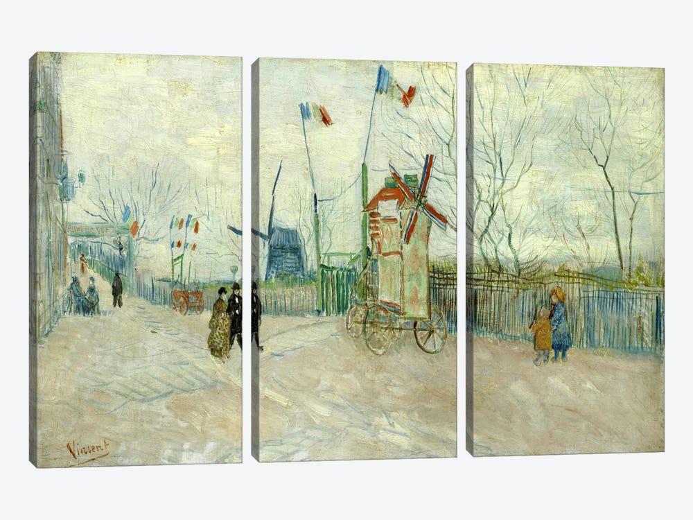 Impasse des Deux Freres by Vincent van Gogh 3-piece Canvas Wall Art