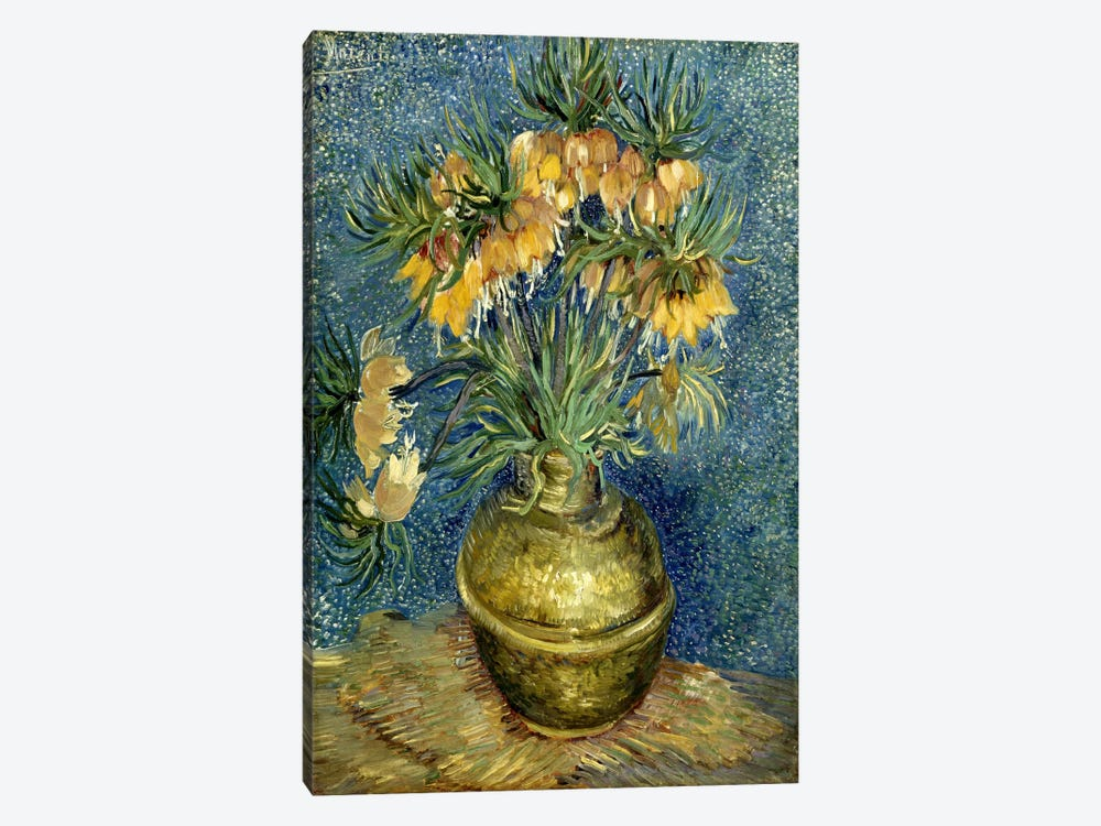 Crown Imperial Fritillaries in a Copper Vase by Vincent van Gogh 1-piece Canvas Art Print
