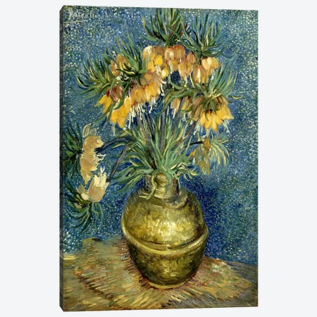 Crown Imperial Fritillaries in a Copper Vase Canvas Print #14354} by Vincent van Gogh Canvas Wall Art