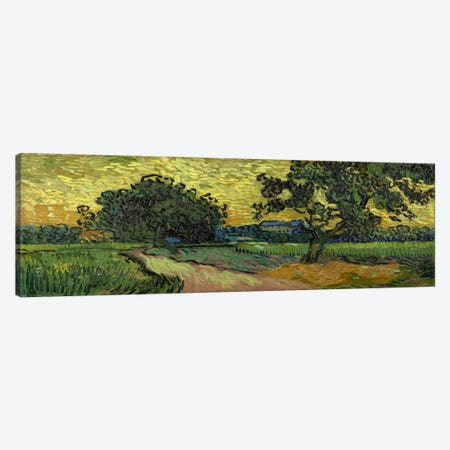 Landscape at Twilight Canvas Print #14359} by Vincent van Gogh Art Print