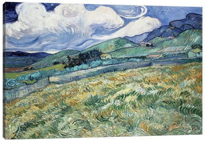Landscape at Saint-Remy Canvas Print #14360