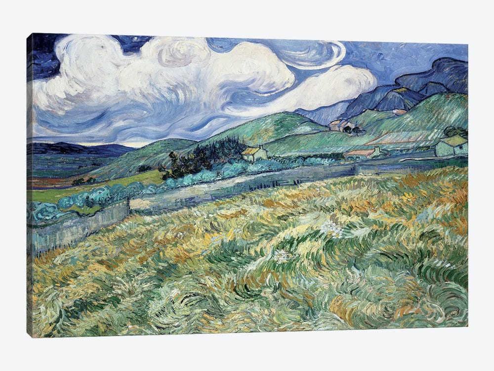 Landscape at Saint-Remy by Vincent van Gogh 1-piece Canvas Artwork