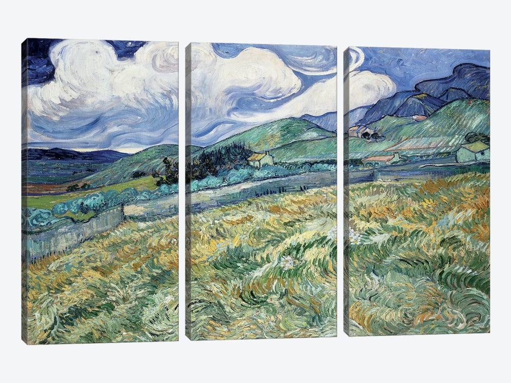 Landscape at Saint-Remy by Vincent van Gogh 3-piece Canvas Art