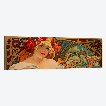 Biscuits Lefevre Utile Canvas Print #1436PAN} by Alphonse Mucha Canvas Art