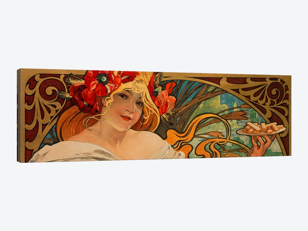 Biscuits Lefevre Utile by Alphonse Mucha 1-piece Canvas Print