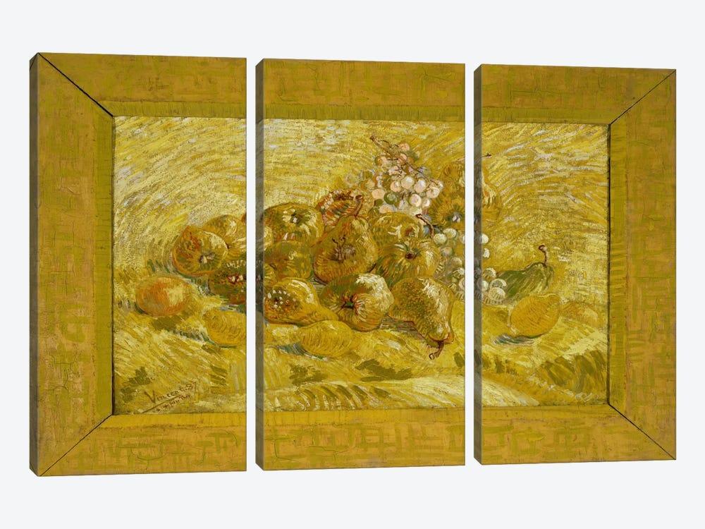 Quinces, Lemons, Pears, and Grapes by Vincent van Gogh 3-piece Canvas Art