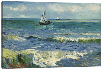 Seascape Near Les Saintes Maries de la Mer Canvas Art Print