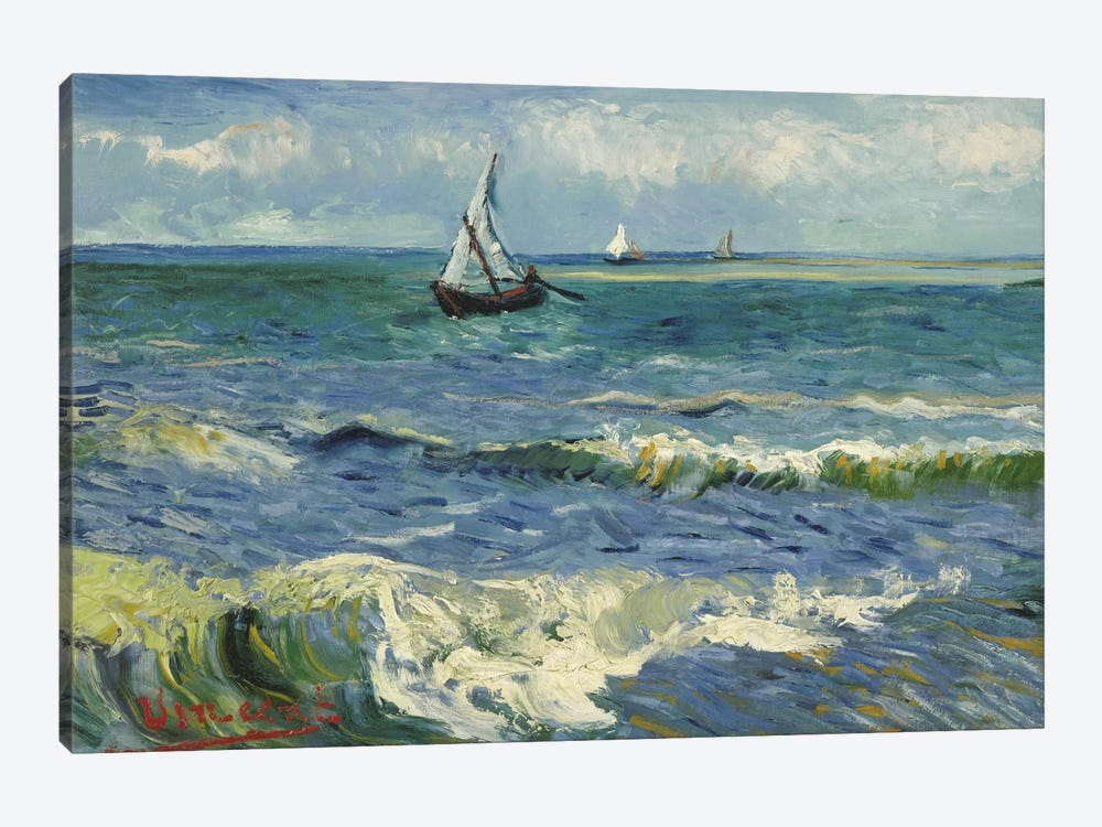 Seascape Near Les Saintes Maries de la Mer by Vincent van Gogh 1-piece Canvas Art