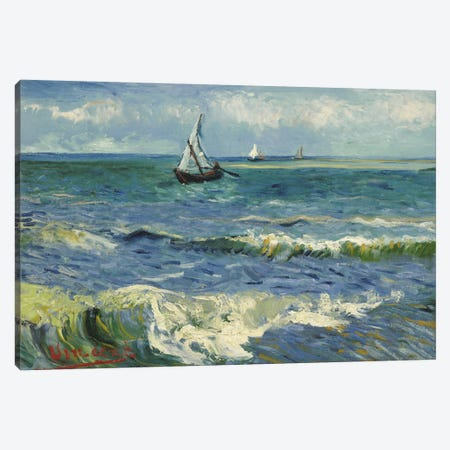 Seascape Near Les Saintes Maries de la Mer Canvas Print #14386} by Vincent van Gogh Canvas Art Print