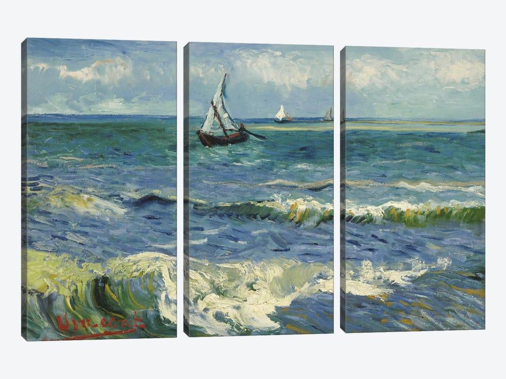 Seascape Near Les Saintes Maries de la Mer by Vincent van Gogh 3-piece Canvas Artwork