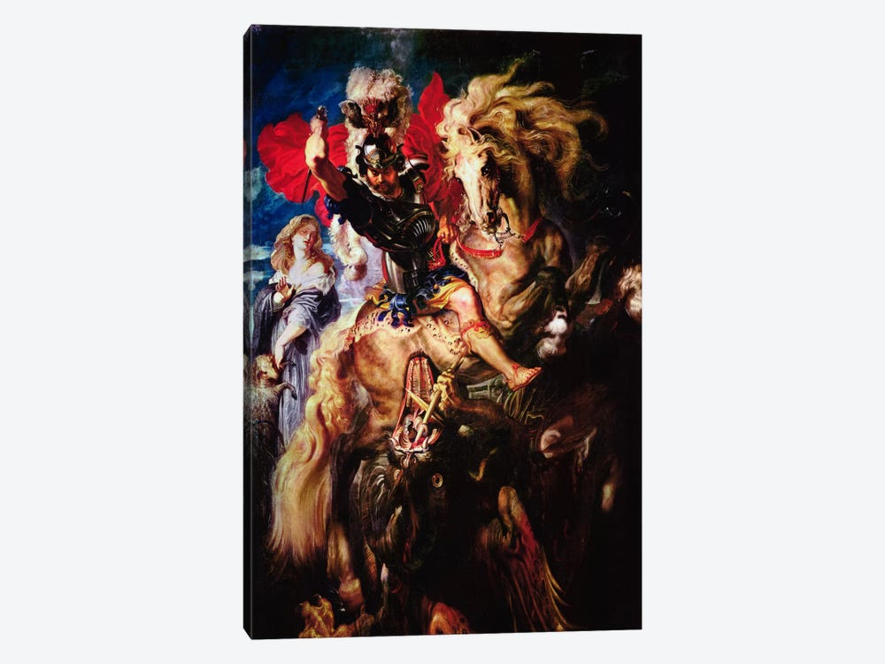 St. George and The Dragon by Peter Paul Rubens 1-piece Canvas Art
