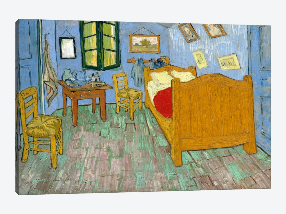 Bedroom In Arles, Second Version, September 1889 (Art Institute Of Chicago) by Vincent van Gogh 1-piece Canvas Art Print