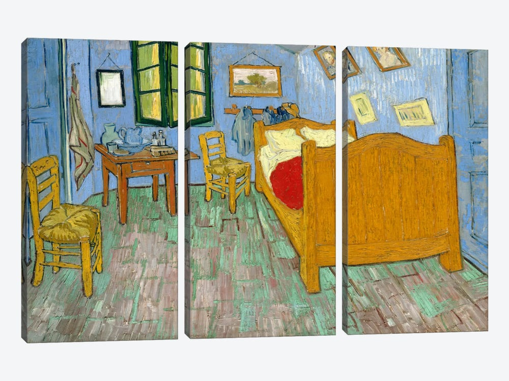 Bedroom In Arles, Second Version, September 1889 (Art Institute Of Chicago) by Vincent van Gogh 3-piece Art Print