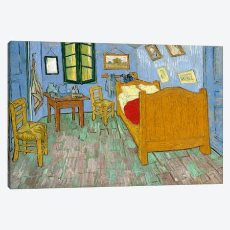 Bedroom In Arles, Second Version, September 1889 (Art Institute Of Chicago) Canvas Print #14400} by Vincent van Gogh Art Print