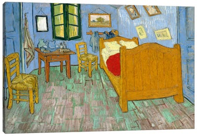 Bedroom In Arles, Second Version, September 1889 (Art Institute Of Chicago) Canvas Art Print