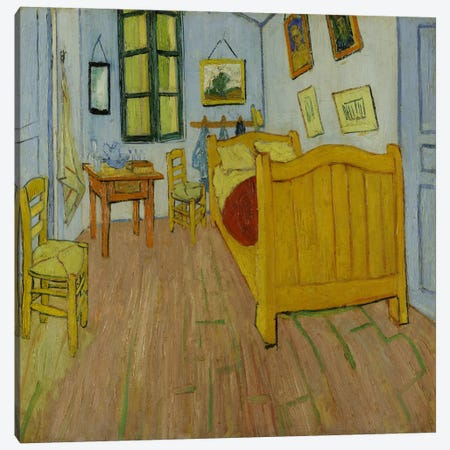 Bedroom In Arles, First Version, October 1888 (van Gogh Museum) Canvas Print #14401} by Vincent van Gogh Canvas Print