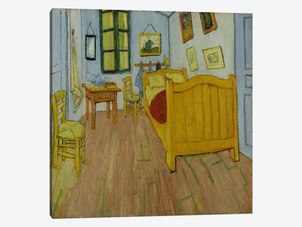 Bedroom In Arles, First Version, October 1888 (van Gogh Museum) by Vincent van Gogh 1-piece Canvas Artwork