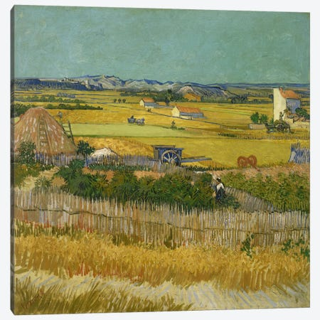 The Harvest Canvas Print #14406} by Vincent van Gogh Canvas Wall Art