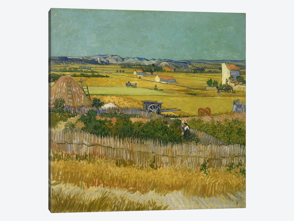 The Harvest by Vincent van Gogh 1-piece Canvas Print