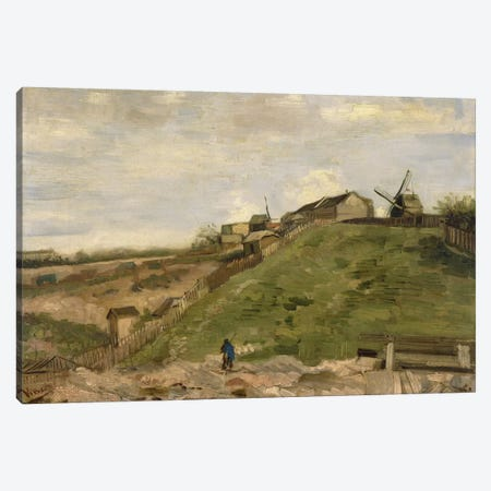The Hill at Montmartre with Stone Quarry Canvas Print #14407} by Vincent van Gogh Canvas Wall Art
