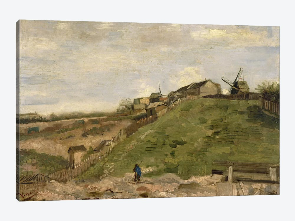 The Hill at Montmartre with Stone Quarry by Vincent van Gogh 1-piece Canvas Wall Art