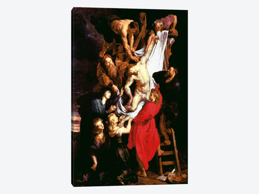 The Descent From The Cross, Central Panel of The Triptych, 1611-14 by Peter Paul Rubens 1-piece Canvas Print