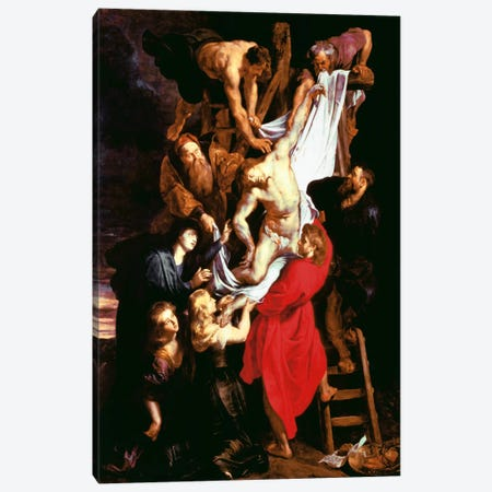 The Descent From The Cross, Central Panel of The Triptych, 1611-14 Canvas Print #1440} by Peter Paul Rubens Canvas Artwork