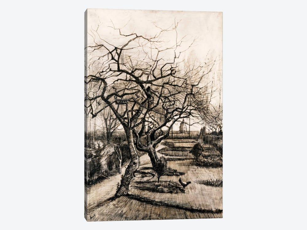 The Parsonage Garden at Nuenen in Winter by Vincent van Gogh 1-piece Canvas Art Print