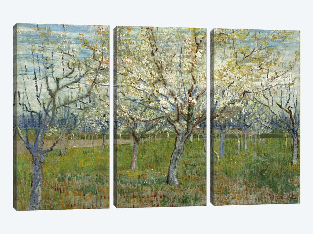 The Pink Orchard by Vincent van Gogh 3-piece Canvas Artwork