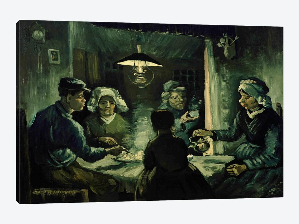 Second Study For The Potato Eaters by Vincent van Gogh 1-piece Canvas Wall Art