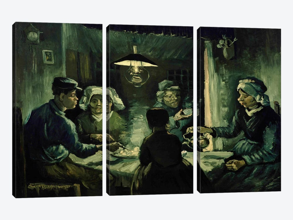 Second Study For The Potato Eaters by Vincent van Gogh 3-piece Canvas Art