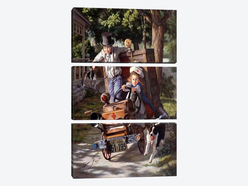 Help on The Way by Bob Byerley 3-piece Canvas Artwork