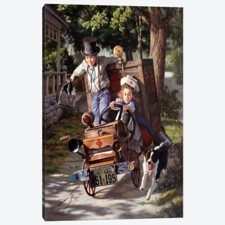 Help on The Way Canvas Print #14449} by Bob Byerley Art Print
