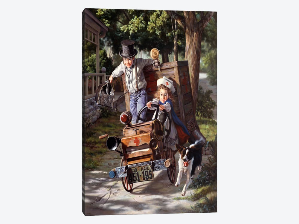 Help on The Way by Bob Byerley 1-piece Canvas Wall Art