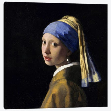 Girl with a Pearl Earring by Johannes Vermeer Canvas Art Print