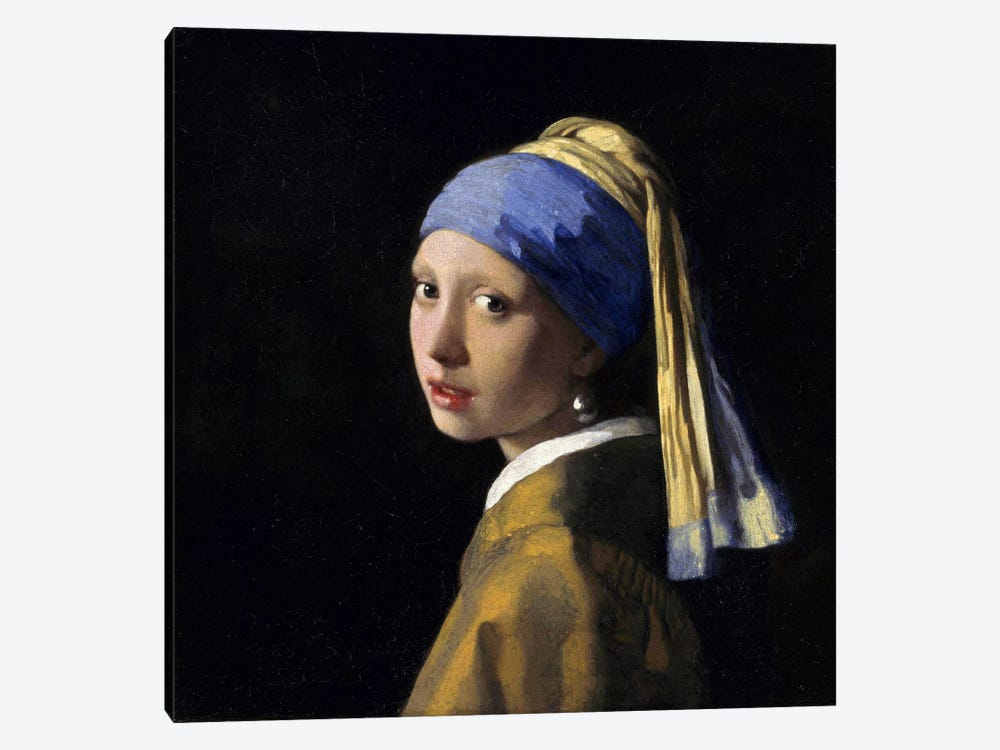 Girl with a Pearl Earring 1-piece Canvas Print