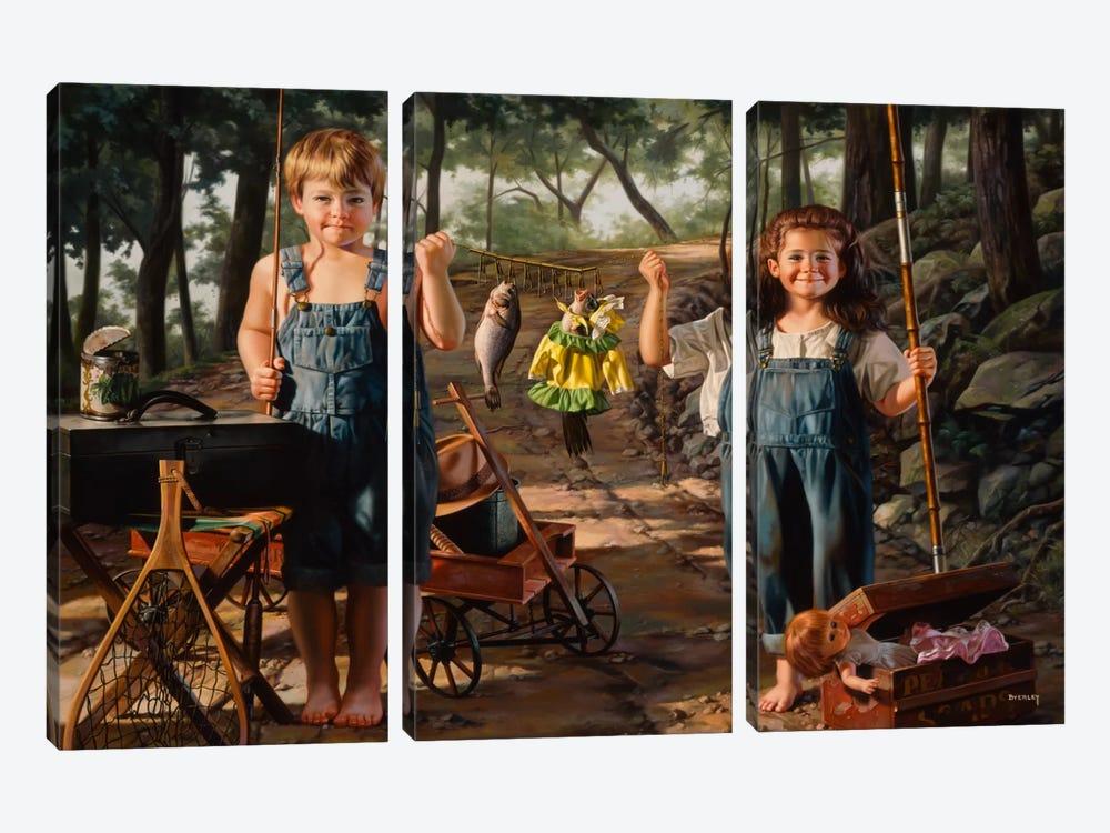 Summer Snapshot by Bob Byerley 3-piece Canvas Art Print