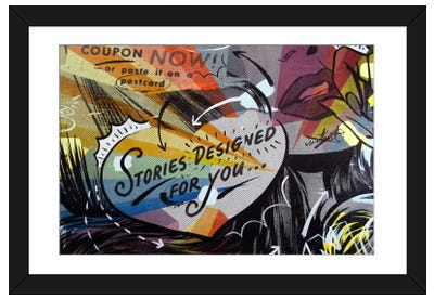 Coupon Stories Framed Art Print
