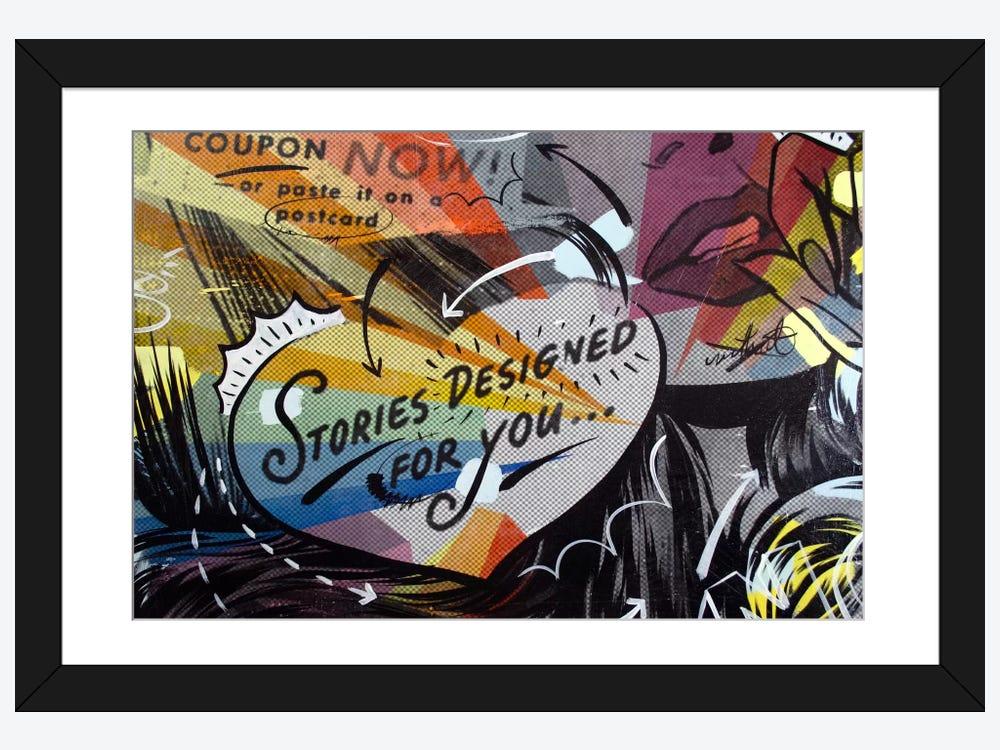 Coupon Stories Framed Art Print by Dan Monteavaro | iCanvas