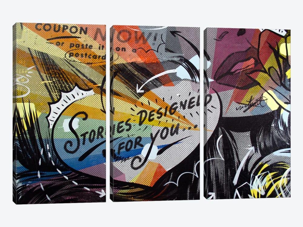 Coupon Stories by Dan Monteavaro 3-piece Canvas Print