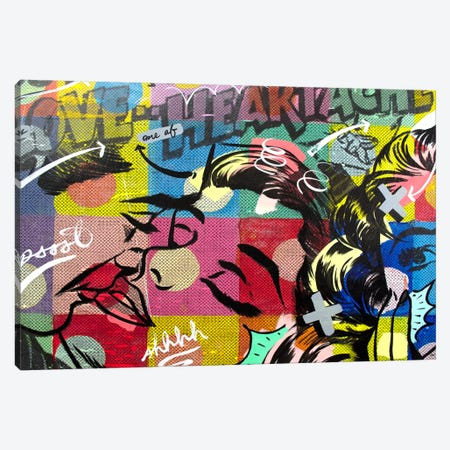 Fearless Heartache 3-Piece Canvas #14499} by Dan Monteavaro Canvas Artwork