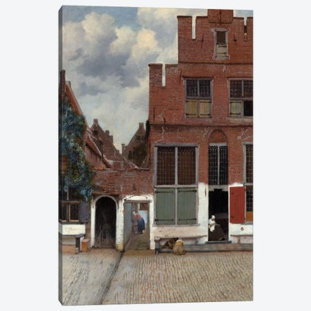 Street In Delft Canvas Print #1449} by Johannes Vermeer Canvas Art