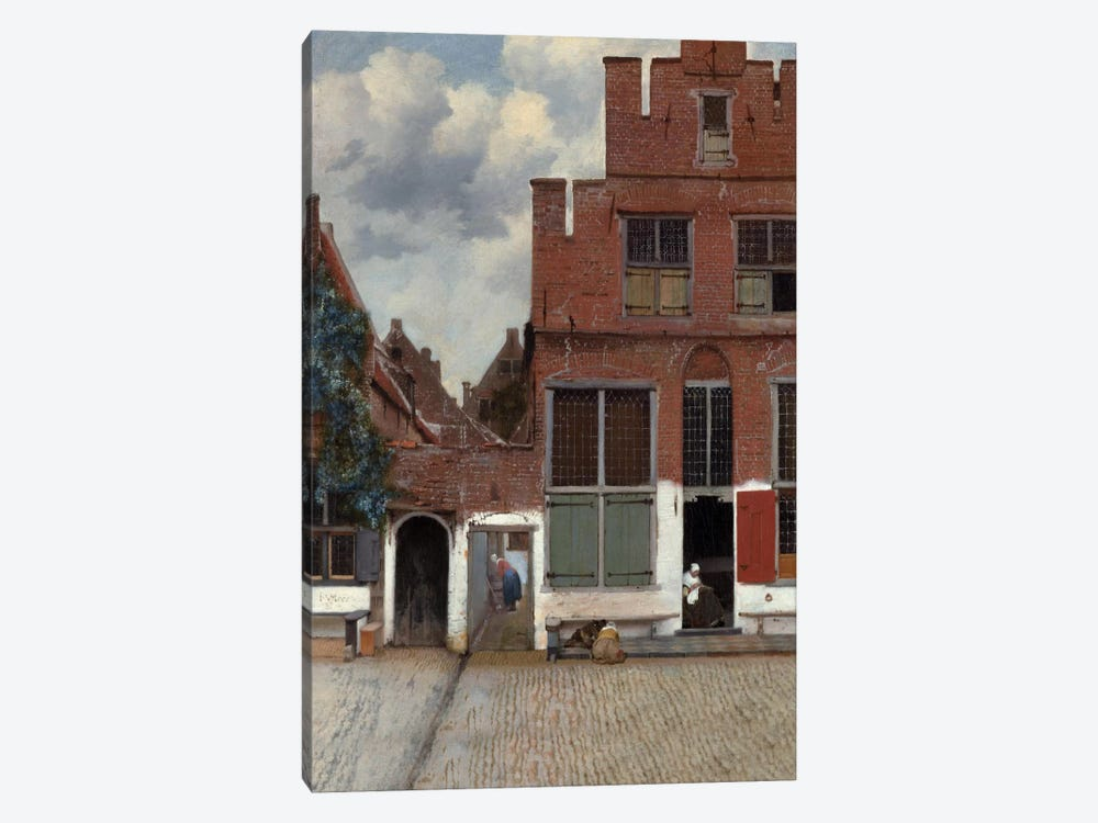 Street In Delft by Johannes Vermeer 1-piece Canvas Artwork