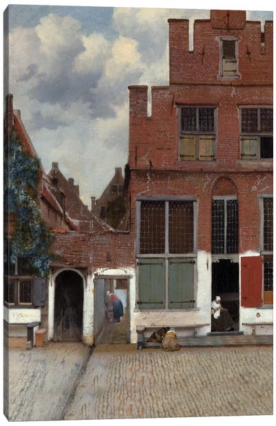 Street In Delft Canvas Art Print