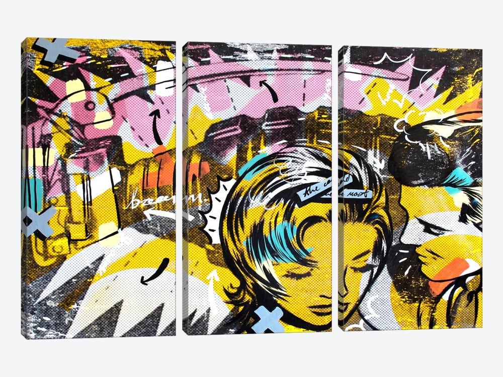 Surprise B by Dan Monteavaro 3-piece Art Print