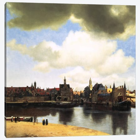 View of Delft, C.1660-61 Canvas Print #1450} by Johannes Vermeer Canvas Art Print
