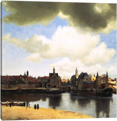 View of Delft, C.1660-61 by Johannes Vermeer Canvas Art Print