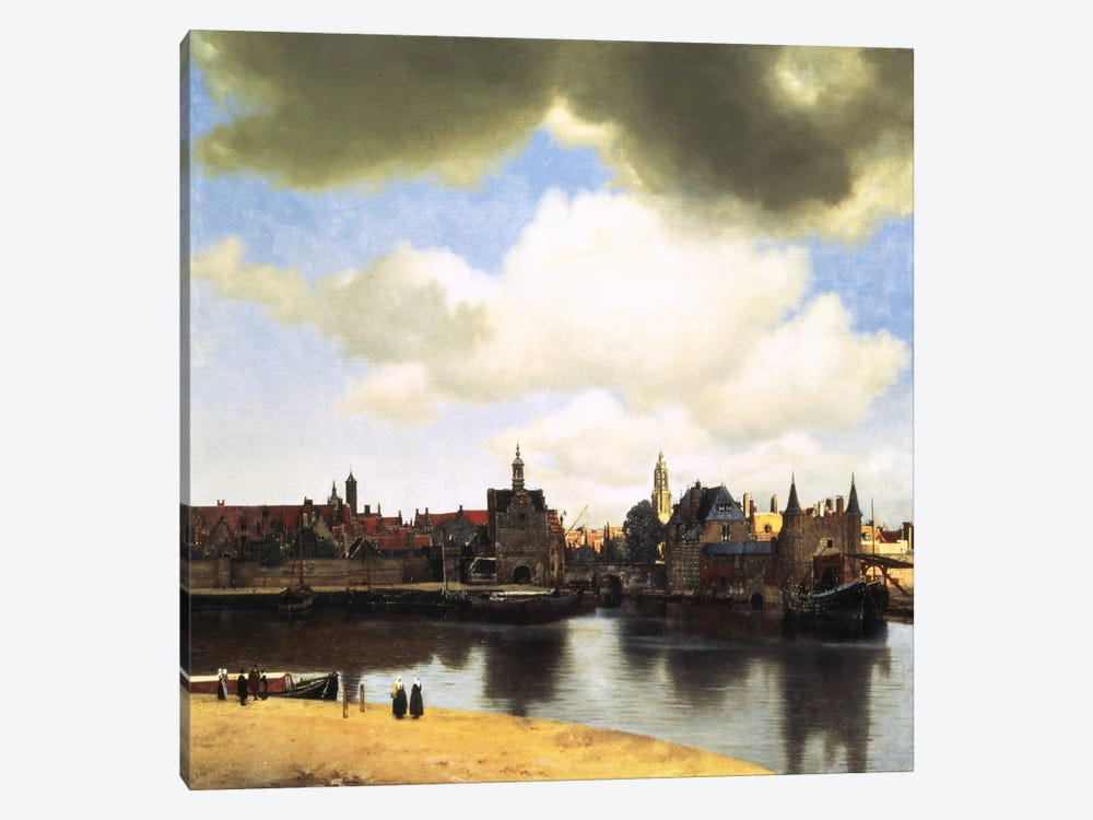 View of Delft, C.1660-61 by Johannes Vermeer 1-piece Canvas Art